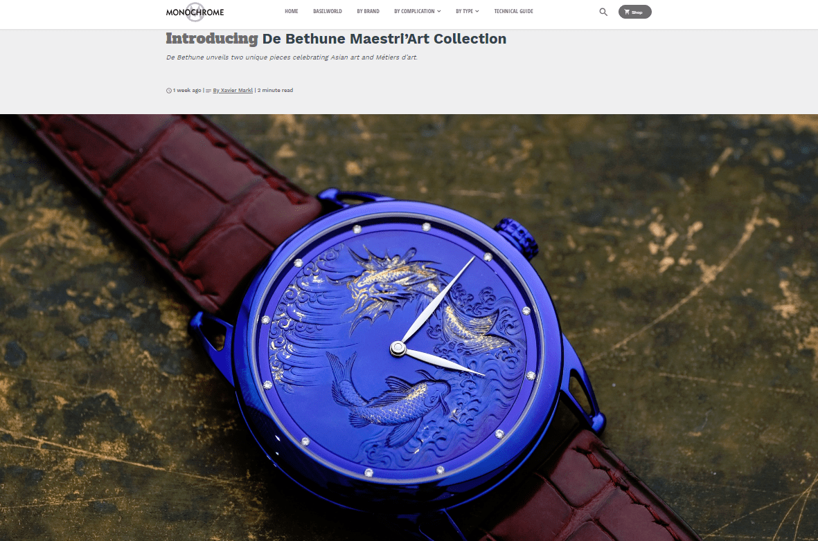 Introducing De Bethune Maestri'Art Collection