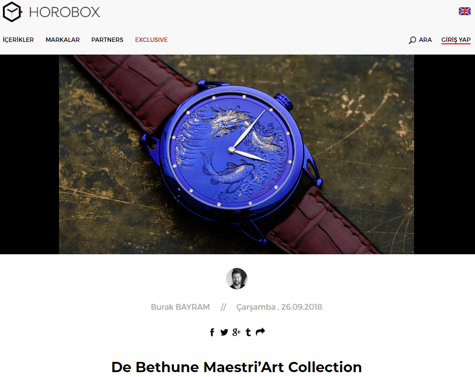 De Bethune Maestri'Art Collection