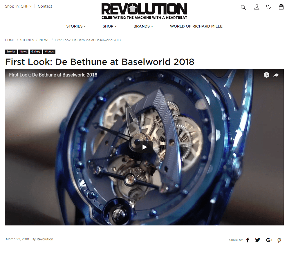 First Look: De Bethune at Baselworld 2018