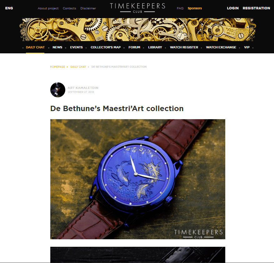De Bethune's Maestri'Art collection