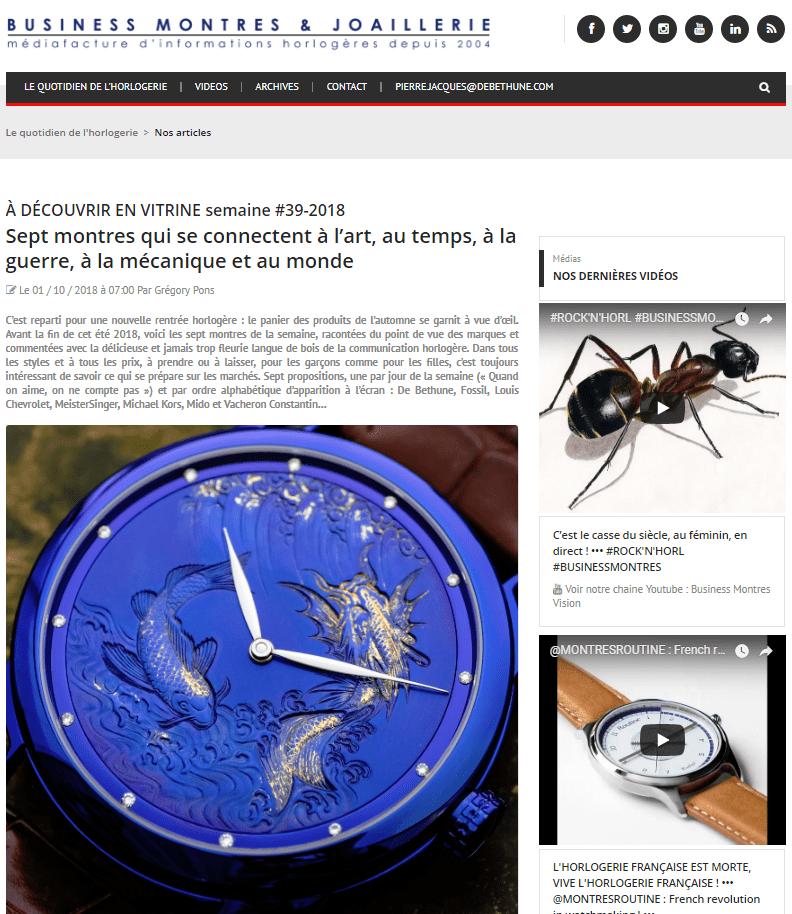 Sept montres qui se connectent à l'art, au temps, à la guerre, à la mécanique et au monde