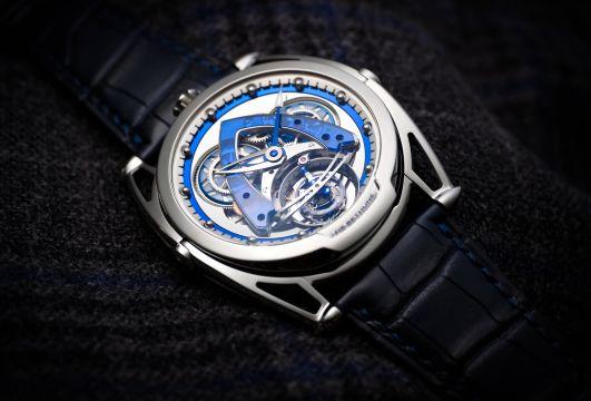 De Bethune dévoile la « DB28 Steel Wheels Sapphire Tourbillon», lors des Geneva Watch Days